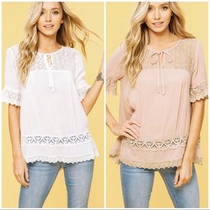 🆕Crocet and Lace Top